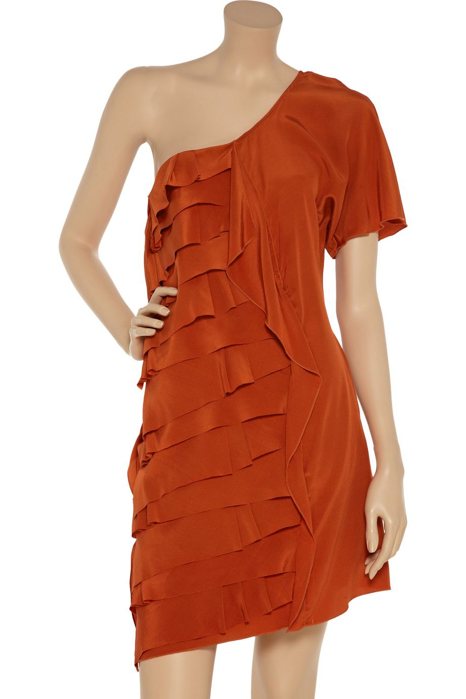 Sachin & Babi Francis ruffled crepe de chine dress - 88% Off Now at THE OUTNET