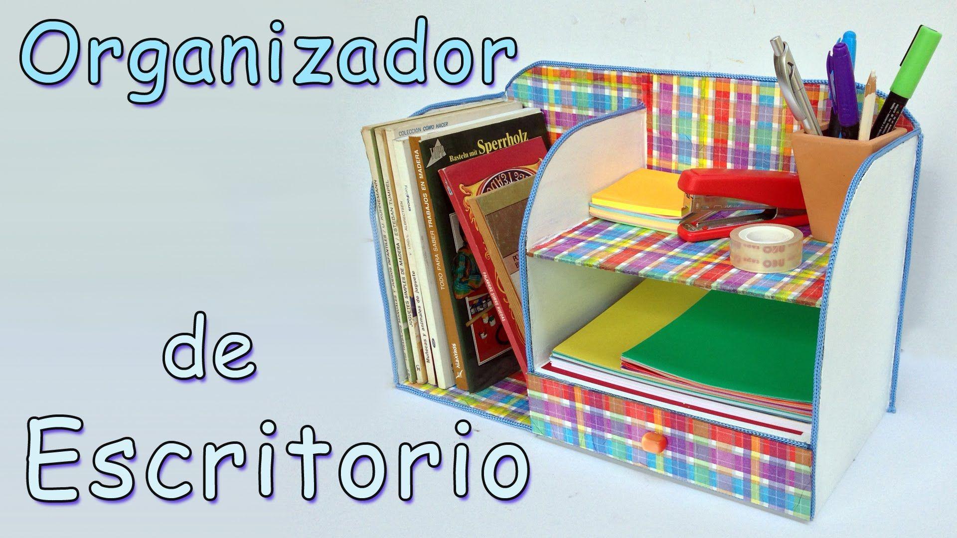 Manualidades organizador de escritorio manualidades para todos videos tutoriales diversos - Organizadores escritorio ...