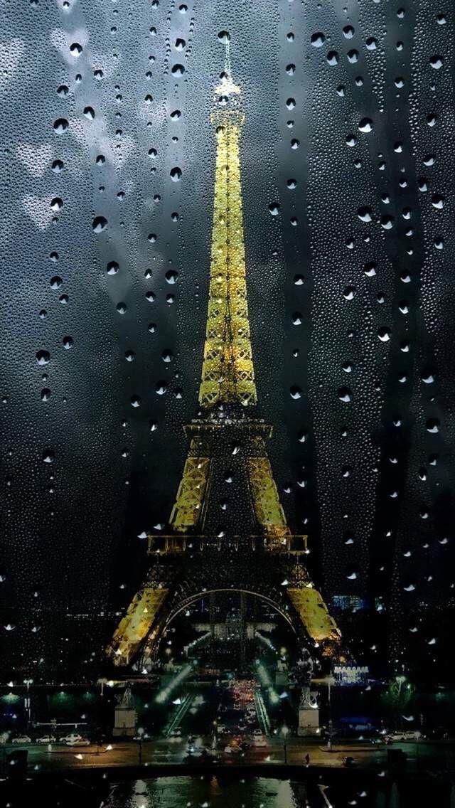Wallpaper Iphone Fall Rain Paris Hatterkepek Pinterest