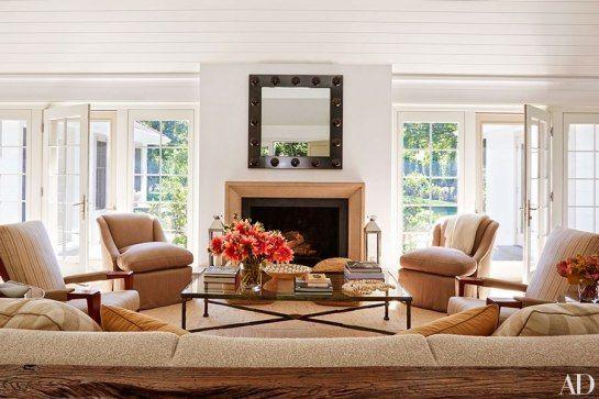 Manhattan-based interior designer David Kleinberg in his East Hampton, New York, vacation home.