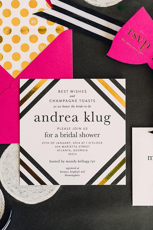 Kate Spade Inspired Invitation