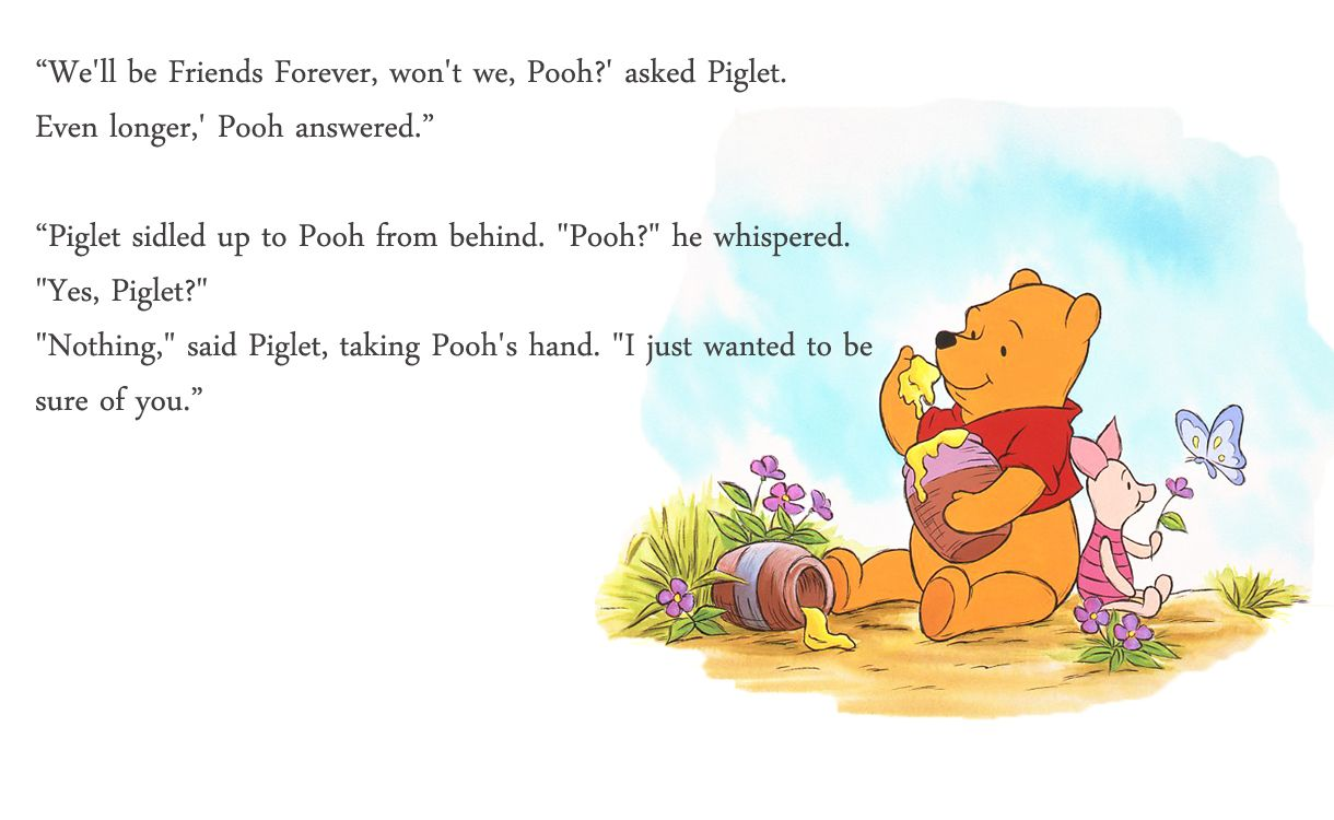Quotes From Winnie The Pooh About Friendship Pooh Bear Quotes  My Scribbling Winnie The Pooh  Friendships