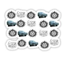 Supernatural Pattern Sticker