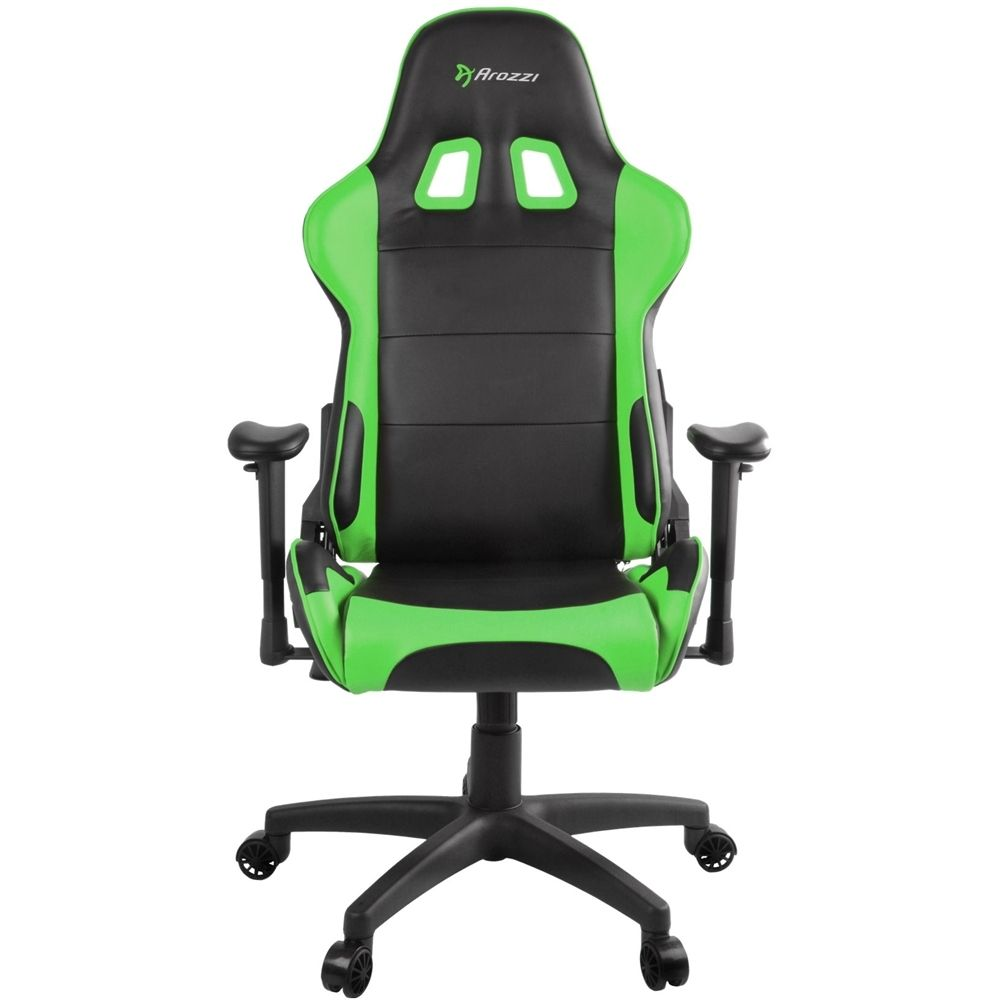 Arozzi Polyurethane Leather Gaming Chair Green Green Chair