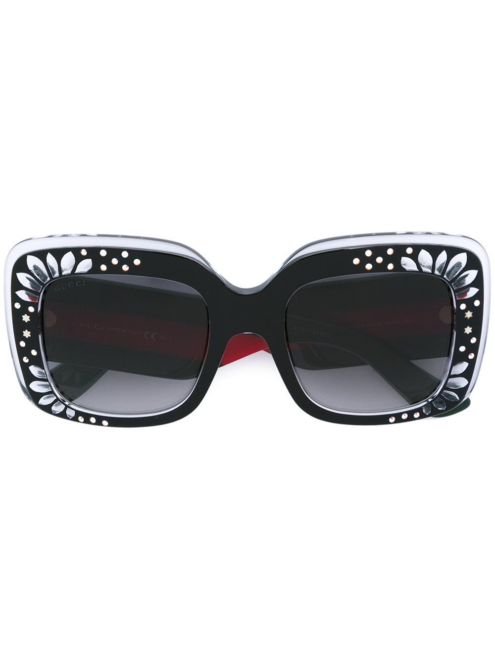 2fa00ee193 Gucci Eyewear Oversize Square-frame Rhinestone Sunglasses Black crystal red green  Women Accessories  11636733  -  101.26   Gucci Eyewear UK Sale Cheap Shop
