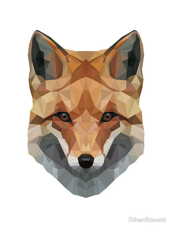 'Geometrischer Fuchs' Sticker von EthanRowett