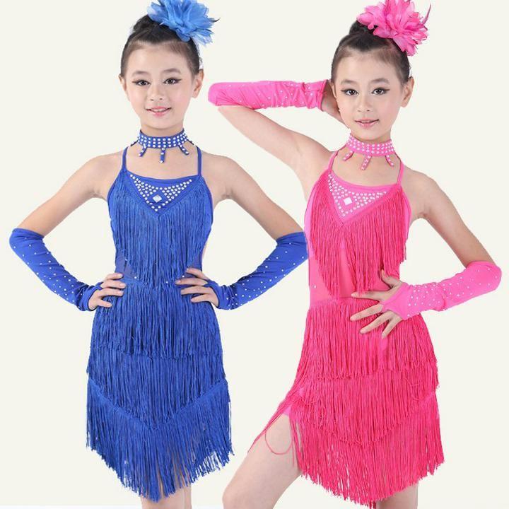 0be609eca 20pcs lot Free Shipping 2 Colors Children Girls Ballroom Competition ...