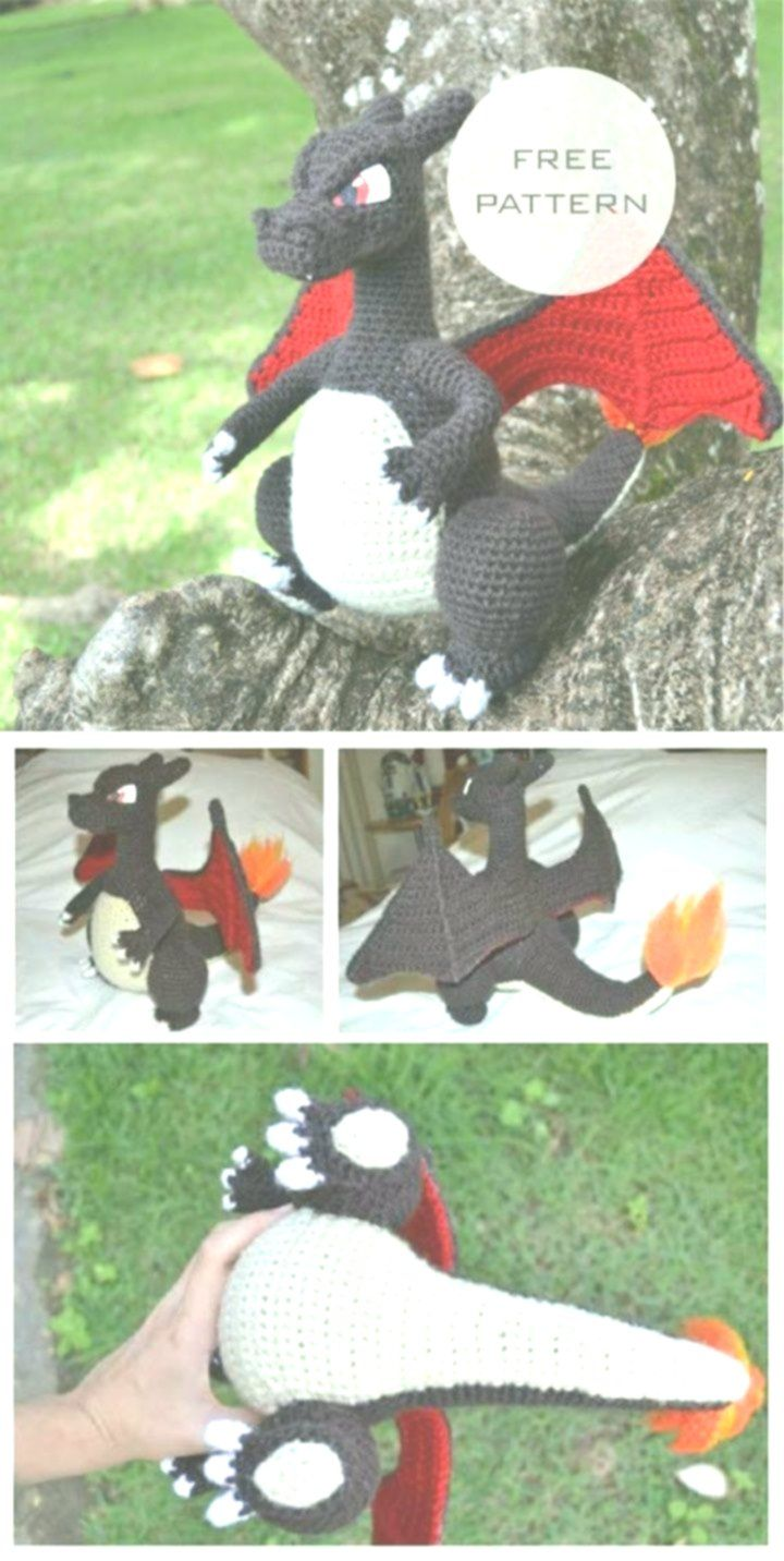 Mega Charizard Y | Crochet pokemon, Pokemon crochet pattern, Crochet dragon | 1432x720