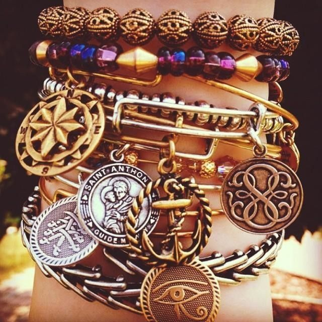 We are throwing it back today to feature some classic core charms! This charmed arm belongs to our  Bartender Marina, she's showing us her first Alex and Ani purchases! #alexandani #charmedarms #corecharms #madeinamerica #positiveenergy #partridgecreek