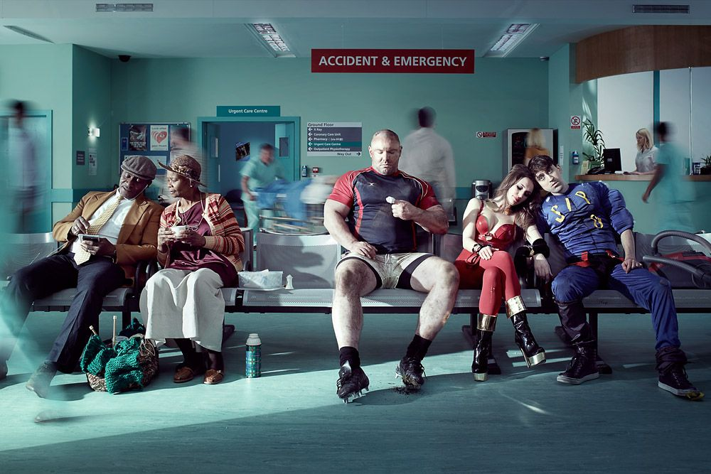 Poster for the Channel 4 documentary series '24 Hours in A&E'