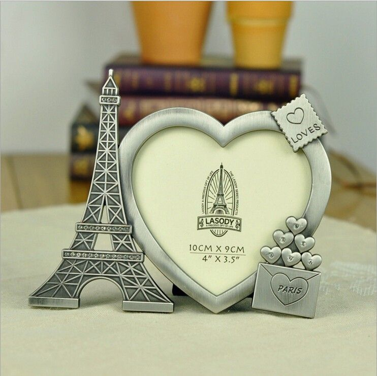 fashion lovely paris tower metal photo frame diy picture love frame picture wedding creative gifts for