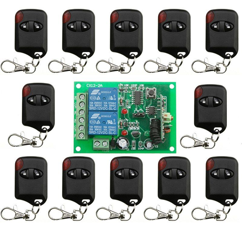 433 Mhz Smart Home Dc12v Wireless Remote Control Switch Relay Receiver Module With 433mhz Transmitter For Garage D Remote Electronic Accessories Remote Control