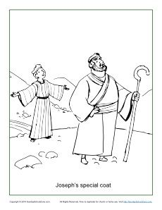 joseph and coat of many colors coloring page - joseph 39 s coat of many colors coloring page sunday school