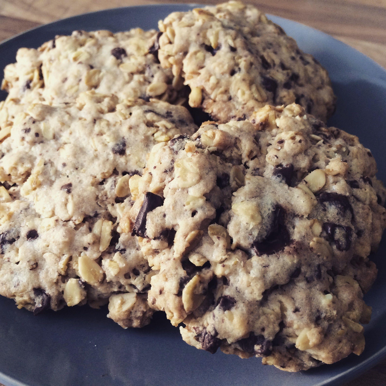 Selbstgebackene Schoko-Haferflocken-Cookies :-) - für eine kleine Verwöhnung zwischendurch