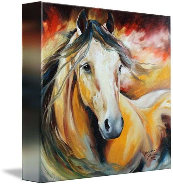 Buckskin Wild By Marcia Baldwin An Original Oil Painting By Equine Artist Marcia Baldwin T Horse Wall Art Canvases Horse Wall Art Abstract Canvas Painting