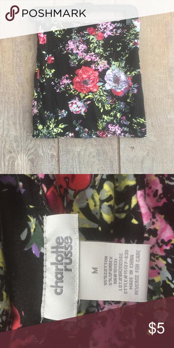 Charlotte Russe mini skirt. Medium Black floral mini skirt. Medium Charlotte Russe Skirts Mini