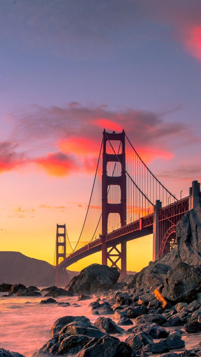 Golden Gate Bridge San Francisco Usa Autumn 4k Vertical San Francisco Photography City Aesthetic San Fancisco