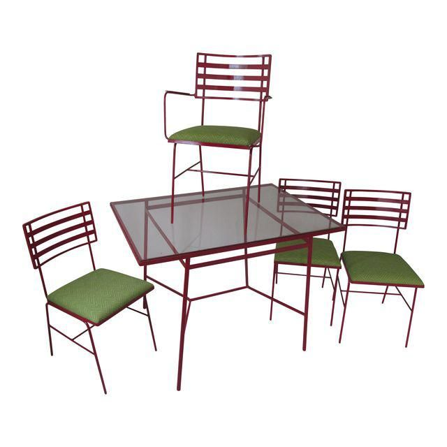 Image Of Mid Century Modern Outdoor Dining Set 5 Pieces Modern