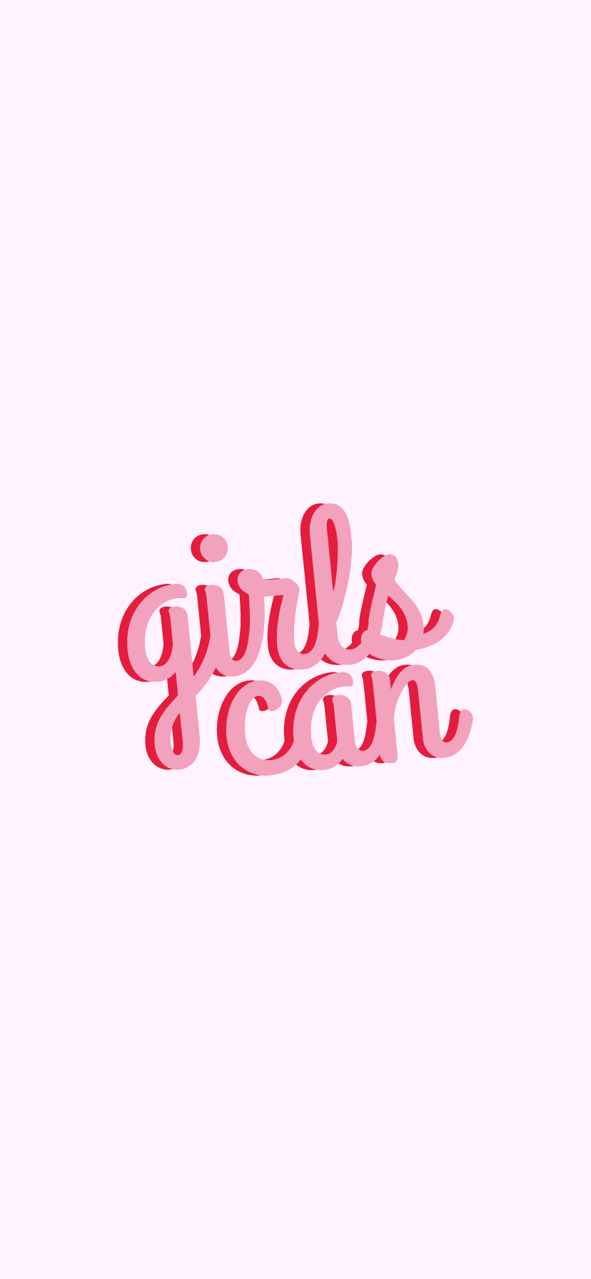 Girls Can Women Courage Quote White Version Sticker By Isabelle