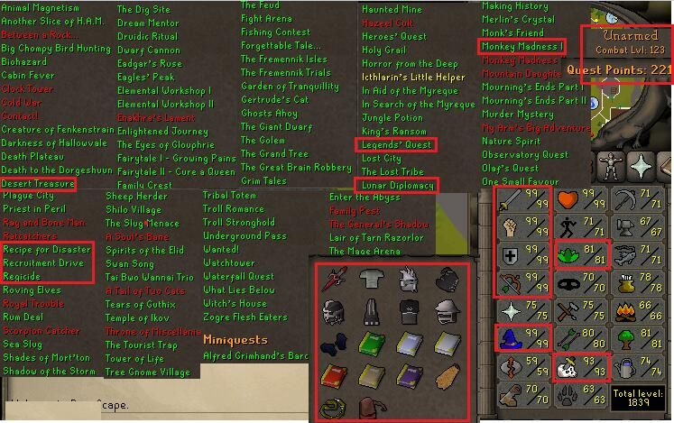 Account Id 20161203LW123 Osrs Combat 123 With 99 Attack Strength Defense
