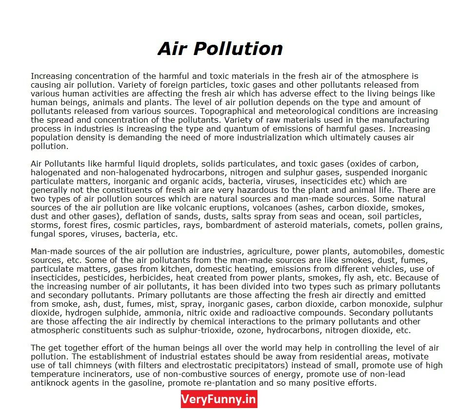 Pin By Ali On Skin Care Air Pollution Speech Essay Conclusion Plastic Land