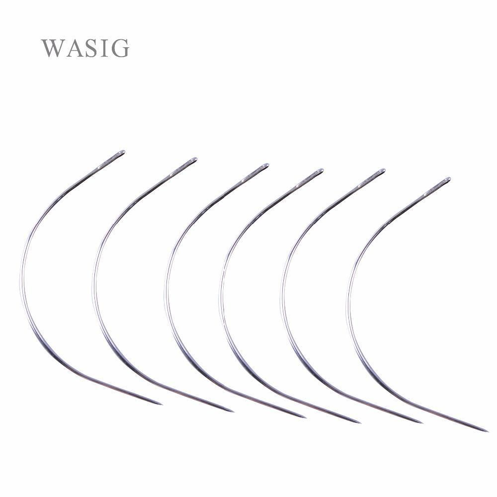 100pcs C Type Sewing Needles Weaving Hair Extension Curved Needle Wig Tools