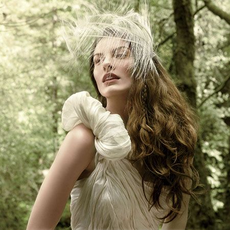 Jennifer Behr feather headband. Photo: Erik Almas/BRIDES. #wedding #weddingaccessories