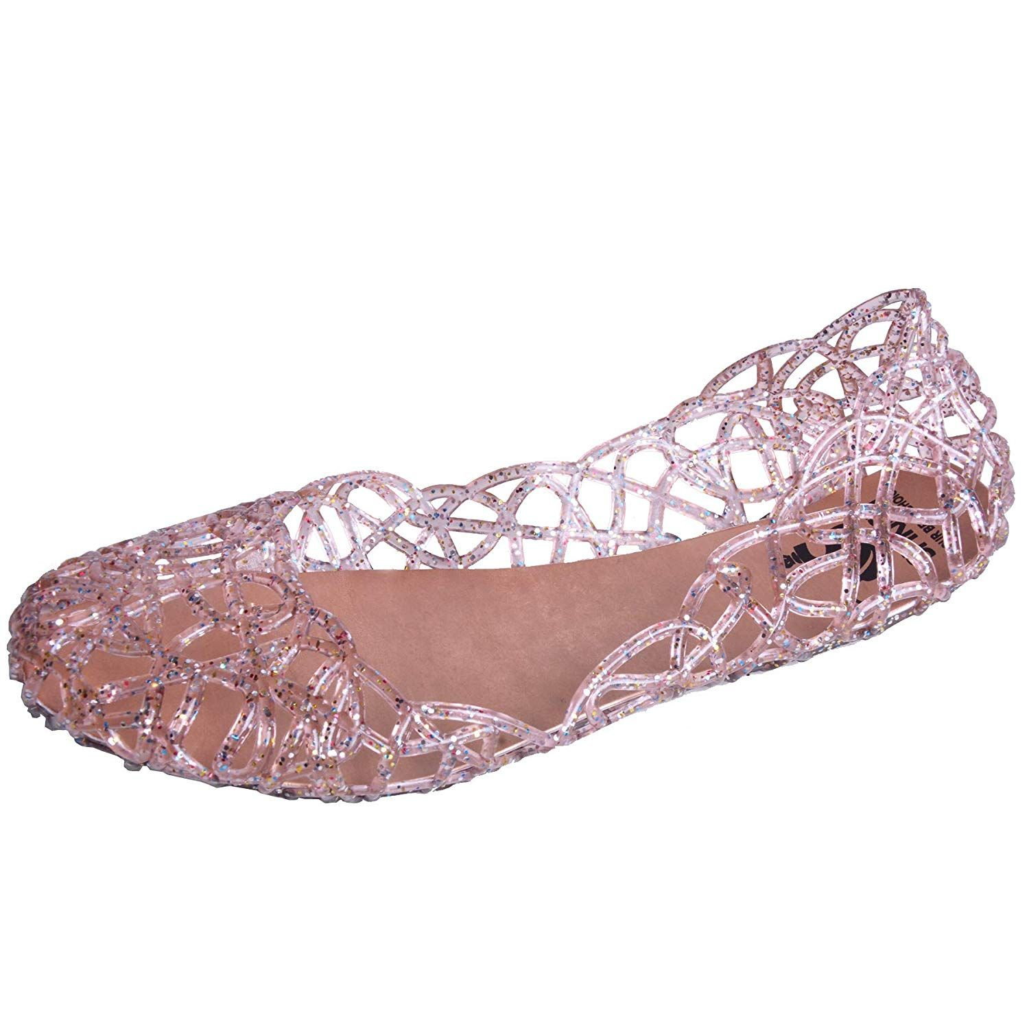 1301419fda0d Hee grand Womens Summer Jelly Shoes Ballet Flats Slip On Hollow Out Loafers Bird  Nest Mesh Sandals     Very nice of you to have dropped by to view our ...