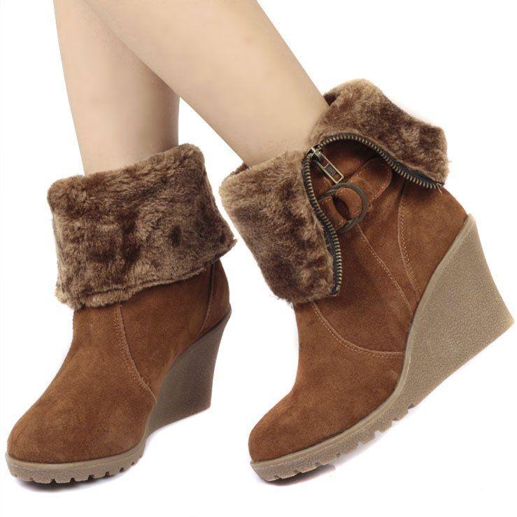 Sepatu Boots Wedges Korean Style Google Search Sepatu Boots