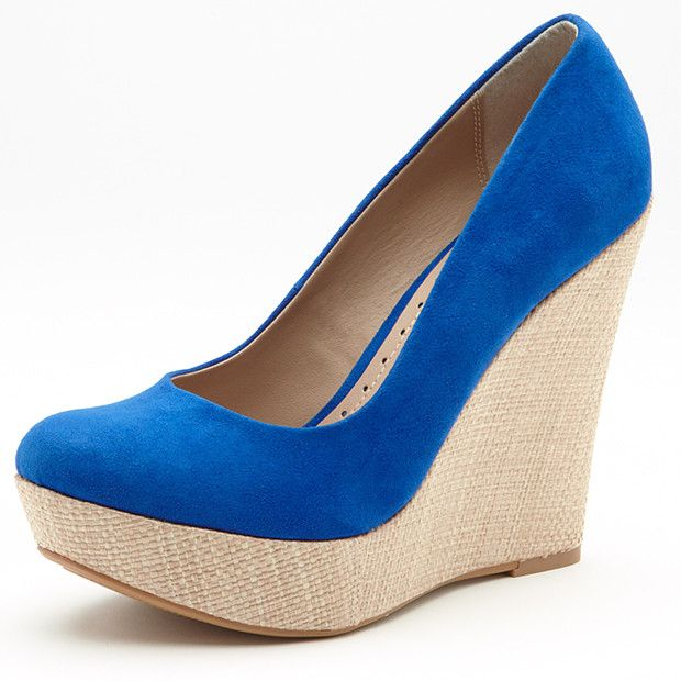 Mystery Woven Wedges - Blue