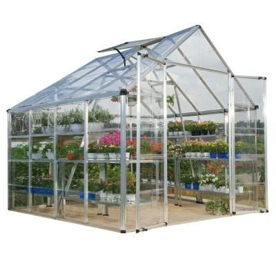 Premium 8x12 Ft Glory Greenhouse Review Home Depot The Quality Of The Materials Seems Good And I Like The Roof Vent Greenhouse Glory Polycarbonate Panels