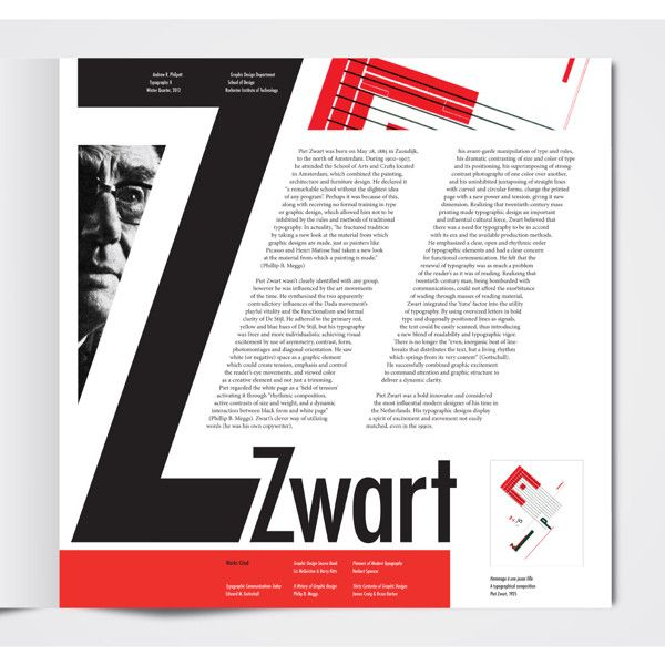 Editorial Design Piet Zwart Article
