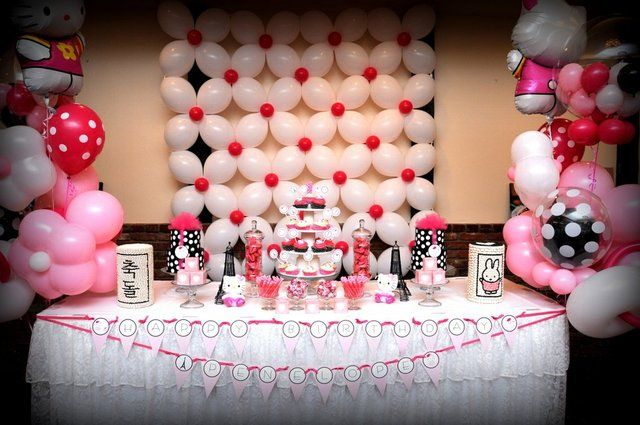 Hello Kitty In Paris Birthday Party Ideas With Images Hello