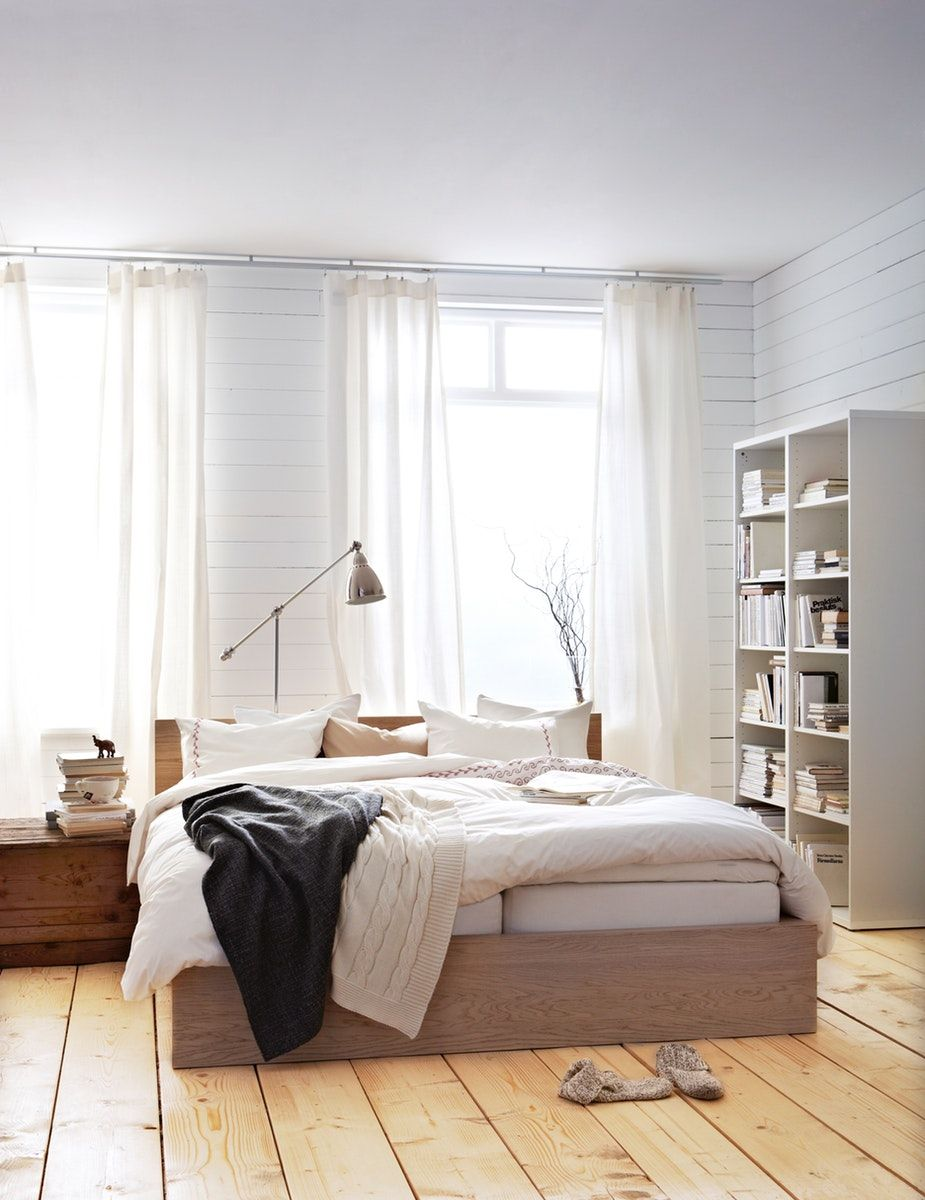 Malm Bed Frame High W 2 Storage Boxes White Stained Oak Veneer Ikea Switzerland In 2020 Oak Bed Frame Malm Bed Frame Malm Bed
