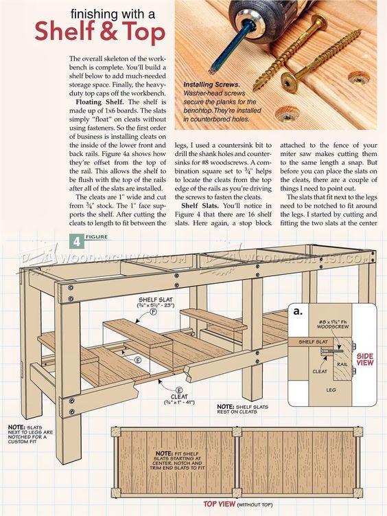 Pocket Screw Depth Gauge Heavy Duty Work Bench Workbench