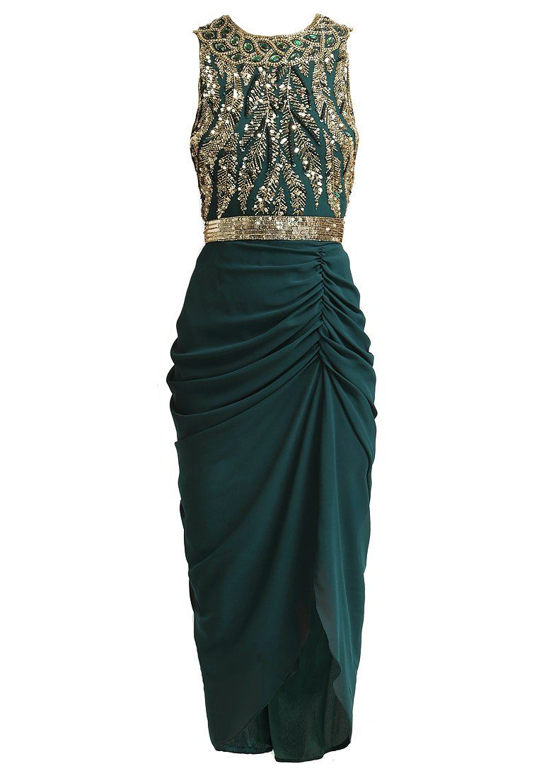 Lange Kleider Abiball Virgos Lounge - Genevieve - Evening Dress - Green And Gold