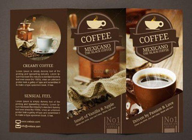 Good Coffee Shop Restaurant Trifold Brochure Template By Janysultana
