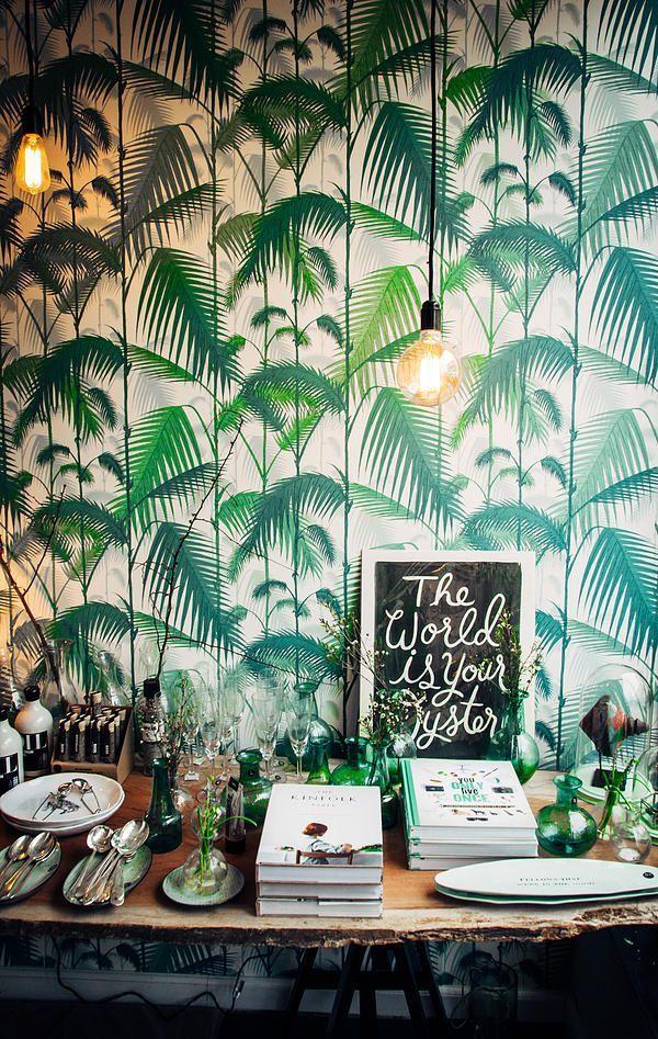 palmentapete - tropische tapete zur wandgestaltung, Innedesign