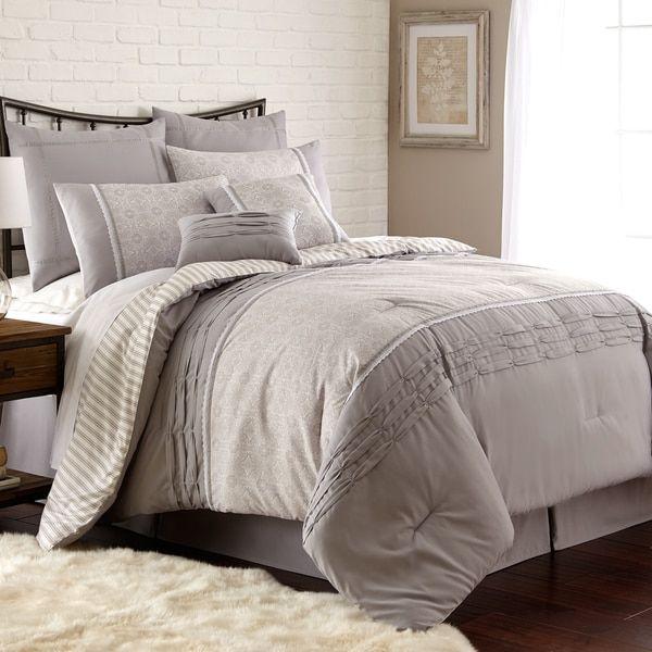 8 piece comforter set king Camila Pleated 8 piece Comforter Set | Bedding in 2018 | Pinterest  8 piece comforter set king