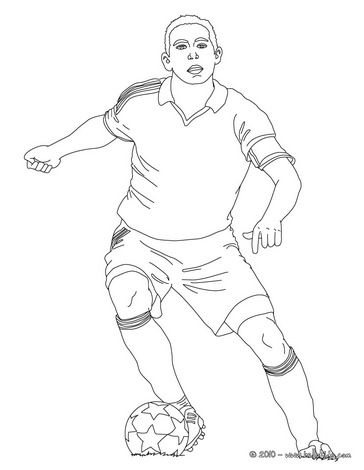 Soccer Player Dribbling Online Coloring Sports Coloring Pages Soccer Players Football Drawing