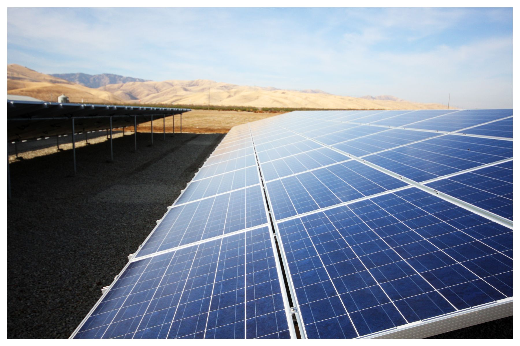 Ag Commercial Solar Ground Mount Installation by