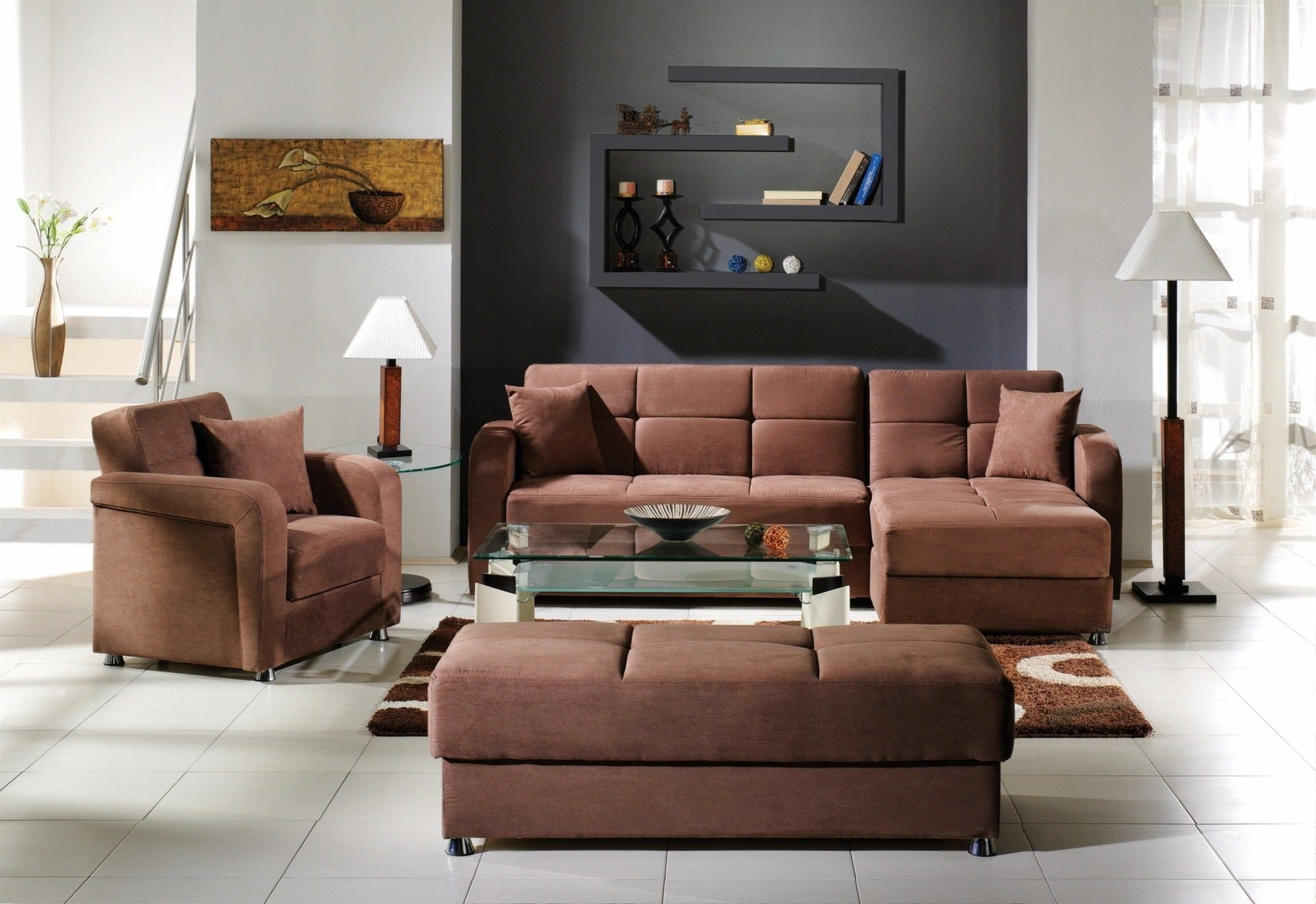 Vision Brown Microfiber Convertible Sectional By Istikbal Furniture . Shop  Online For Brown Microfiber Convertible Sectionals