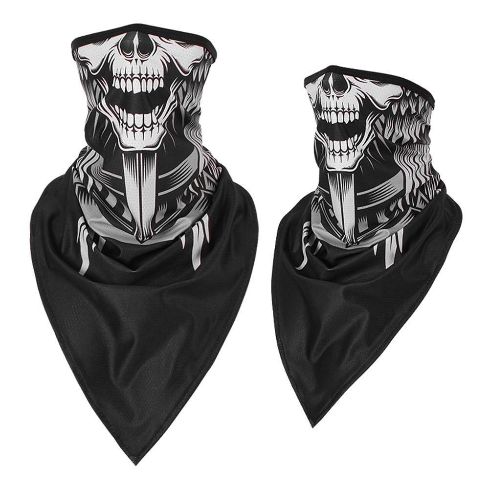 Tactical Skull Face Shield Sun Mask Balaclava Neck Gaiter Headband Bandana Wrap