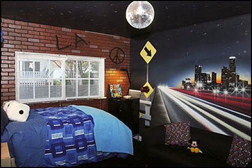 Attractive Urban Theme Bedroom Ideas   Urban Bedrooms   Urban Skater Theme   Urban  Style Decorating Skateboarding Theme   Urban Bedding   Graffiti Themed  Skater Park ...