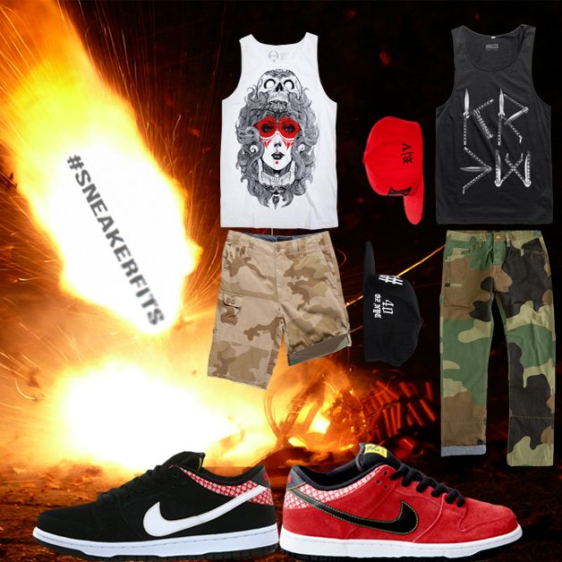 """best service e2181 30f0d ... What To Wear With The Nike SB Dunk Low """"Firecracker Pack"""" – sneakerfits   CNCPTS x Nike SB Dunk High """"Ugly Christmas Sweater"""" ..."""