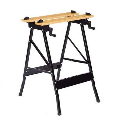 Finether Folding Work Bench Vice Multipurpose Sawhorse Portable