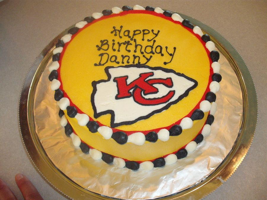 Amazing Kc Chiefs Cake Cake Cupcake Cakes Cake Decorating Funny Birthday Cards Online Overcheapnameinfo
