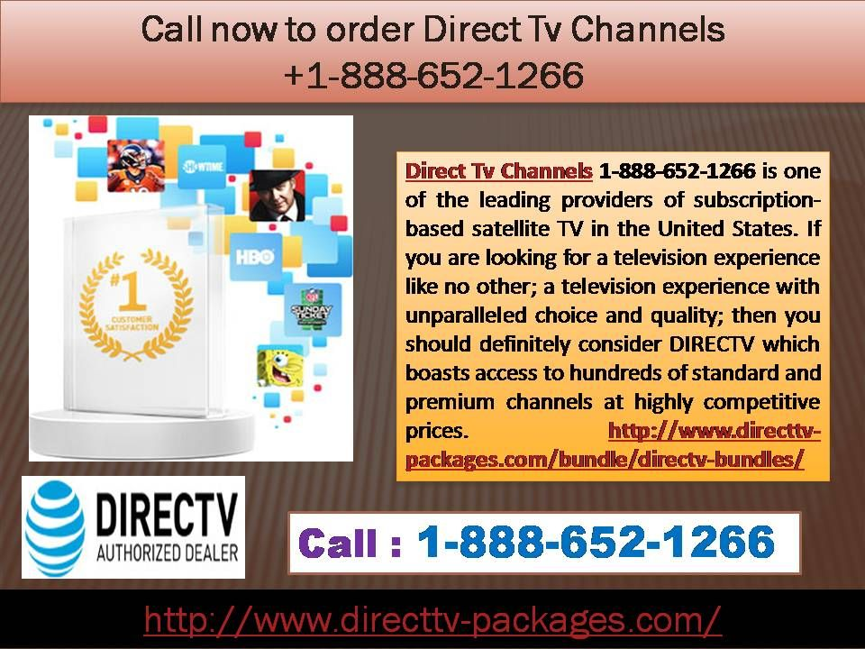 Call now to order Direct Tv Channels 18886521266