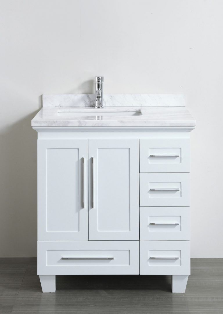 Dazzling White Bathroom Vanity 30 Inches 28 Inch With Drawers Modernbathroomvanities30in White Vanity Bathroom Small Bathroom Vanities Bathroom Vanity Drawers