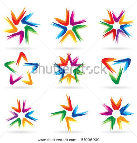 stock vector : Set of different stars icons for your design. White releases #11.